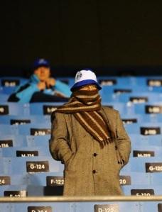 Frio fez com que público presente no Olímpico fosse baixo. Foto: Jefferson Botega (ClicRBS)