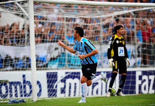 Rodolfo marcou seu primeiro gol pelo Grêmio - Foto: Ricardo Duarte